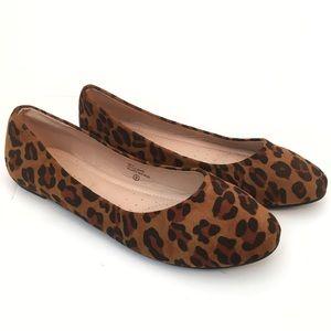 Chase + Chloe Ami Suede Leopard Flats - NWT